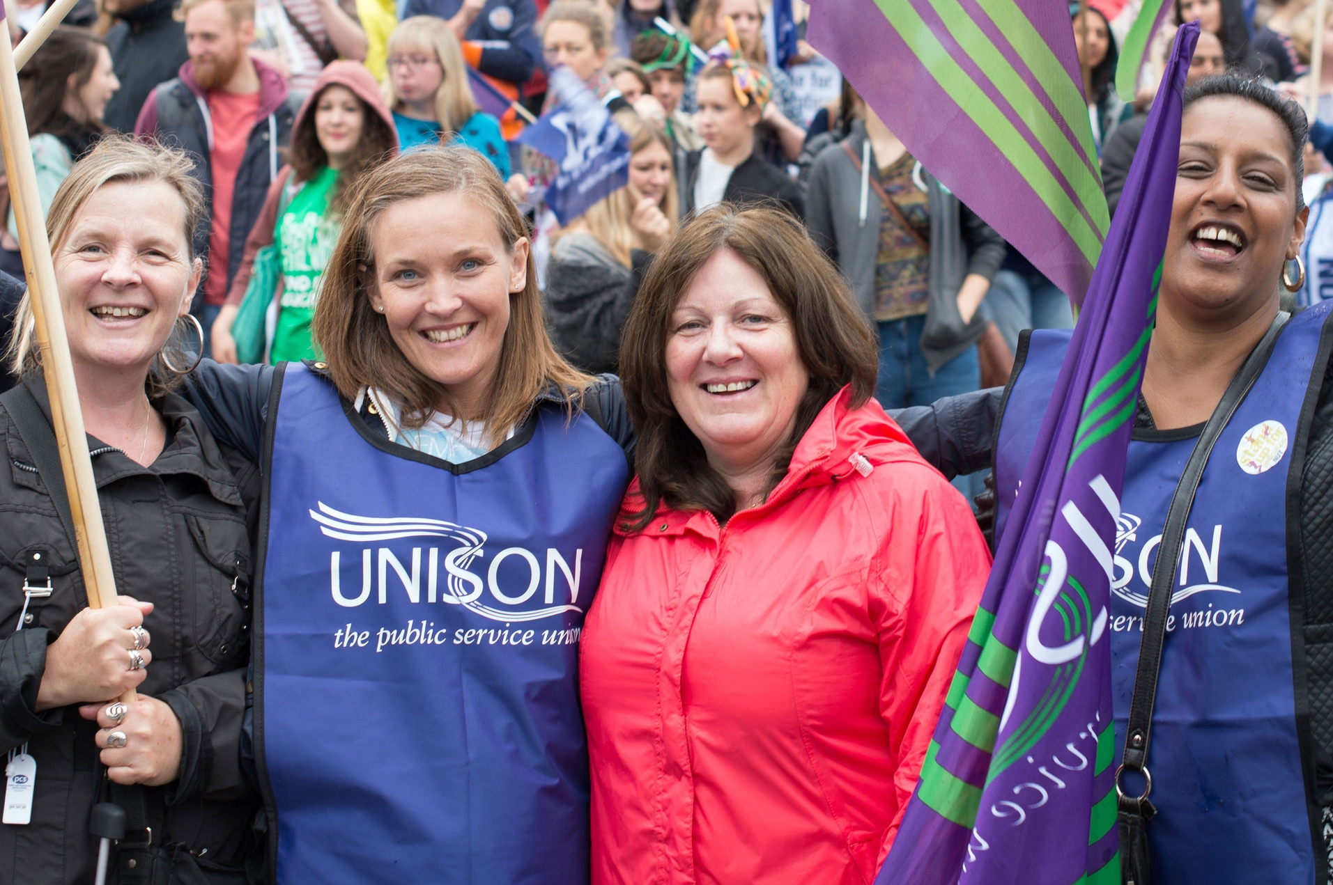 unison women at rally